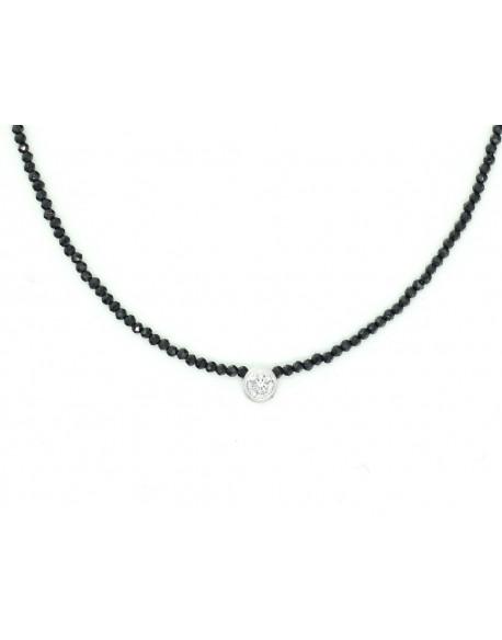 Collar de plata amb espinela i zirconita