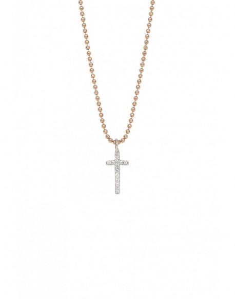 Collar de oro blanco y plata con diamantes