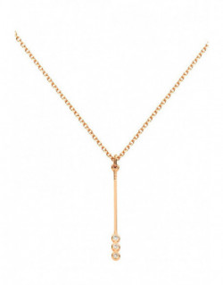 Collar de oro rosa con diamantes de 0.028 quilates