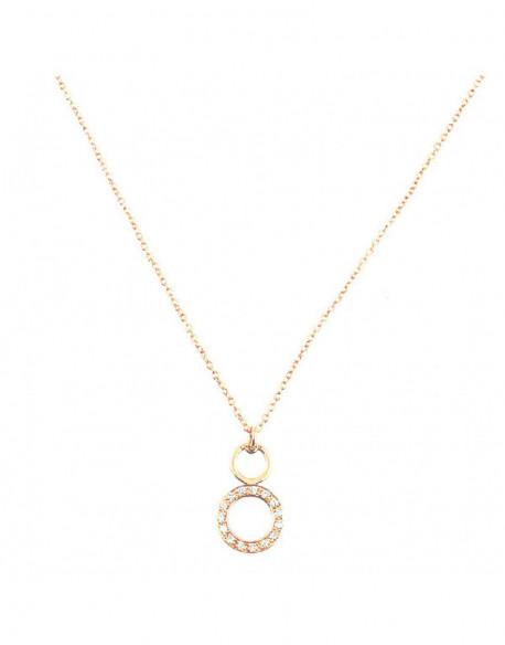 Collar de oro rosa con diamantes