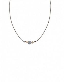 Collar de plata i plata banyada en or ro