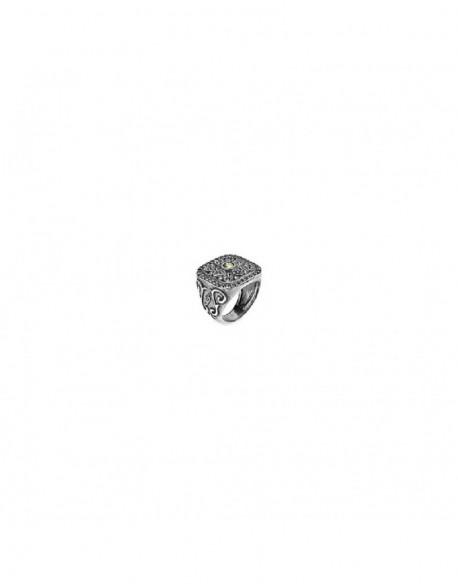 Anillo de plata con circonita