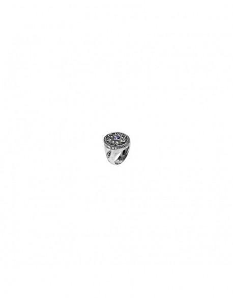 Anill de plata con circonita