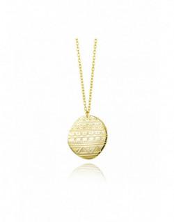 Collar de plata bañada en oro amarillo