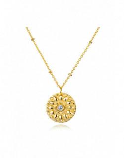 Collar de plata banyada en or groc amb z