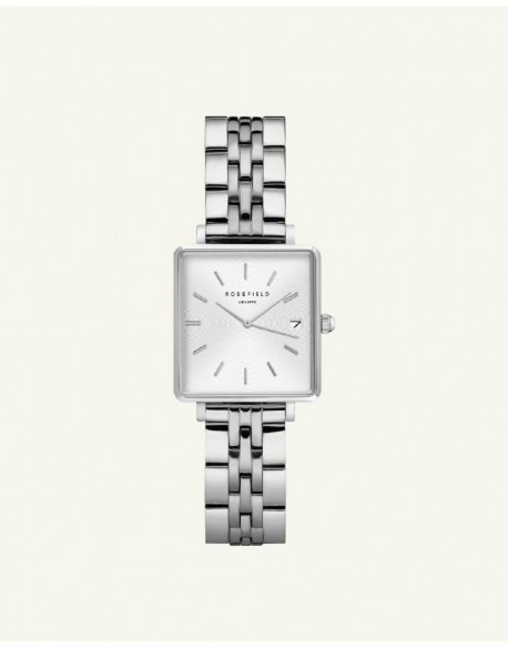 Reloj Rosefield The Mini Boxy White Sunray