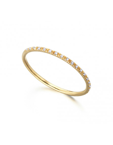 Anillo de oro amarillo con diamantes de 0.04 quilates