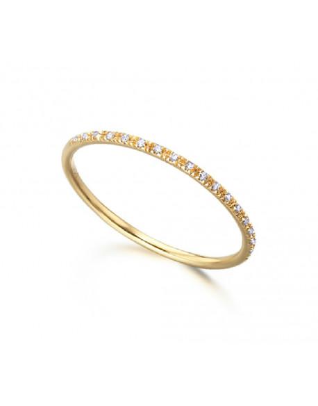 Anell d'or groc amb diamants de 0.04 qui