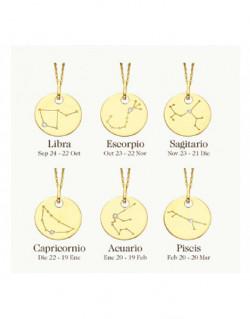 Collar de oro amarillo con diamantes