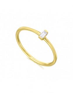 Anell d'or groc amb un diamant de 0.06 q