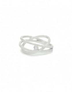 Anell de plata amb un diamant de 0.03 quilats