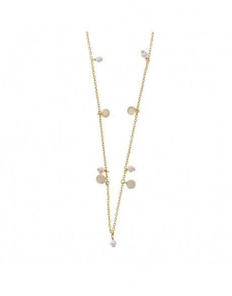Collar de plata banyada en or groc amb p