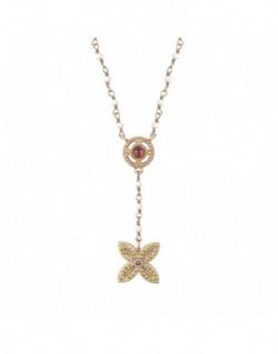 Collar de plata banyada en or rosa amb a