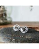 Pendientes plata y diamante LIA minis