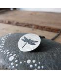 Colgante plata libélula