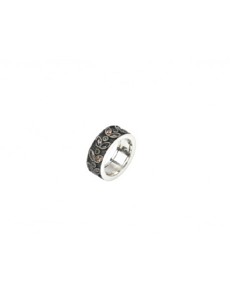 Anell de plata amb zirconita