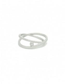 Anillo de plata con un diamante de 0.03 quilates