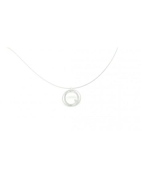 Penjoll de plata amb un diamant de 0.02 quilats