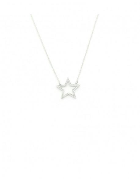 Collar d'or blanc amb diamants de 0.10 q